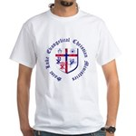 St. Luke's White T-Shirt with large graphic.