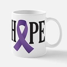 Alzheimers Purple Hope Ribbon Mugs