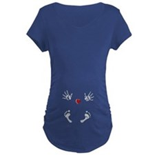 Baby Hands and Feet with Heart Maternity T-Shirt