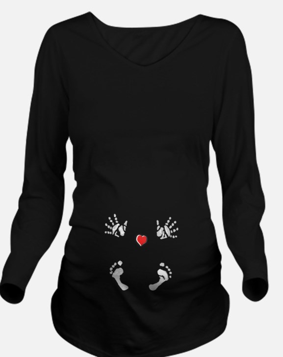 Baby Hands and Feet with Heart Long Sleeve Materni