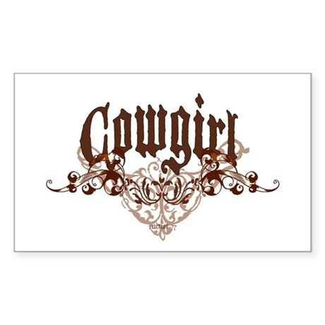Cowgirl Rectangle Sticker
