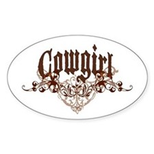 Cowgirl Oval Decal