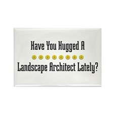 Hugged Landscape Architect Rectangle Magnet