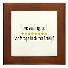 Hugged Landscape Architect Framed Tile