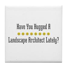 Hugged Landscape Architect Tile Coaster