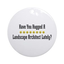 Hugged Landscape Architect Ornament (Round)