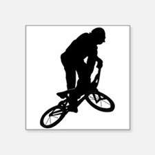 BMX Biker Silhouette Sticker