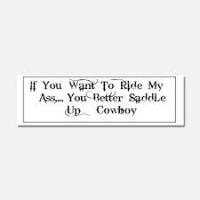 Ride My Ass Bumper Sticker Car Magnet 10 X 3