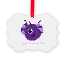 Flying Purple People Eater Ornament