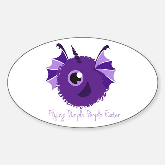 Flying Purple People Eater Decal