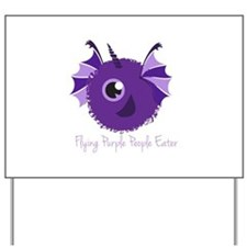 Flying Purple People Eater Yard Sign