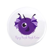 "Flying Purple People Eater 3.5"" Button"