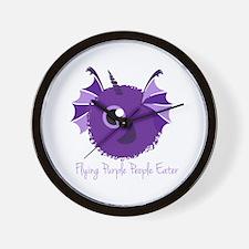 Flying Purple People Eater Wall Clock