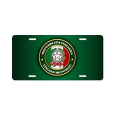 Italy Medallion Aluminum License Plate