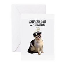 3-shivermewhiskers Greeting Cards