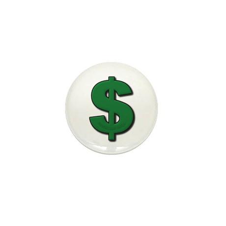 Green Dollar Sign Mini Button