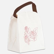 Outline Roses Canvas Lunch Bag