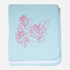 Outline Roses baby blanket