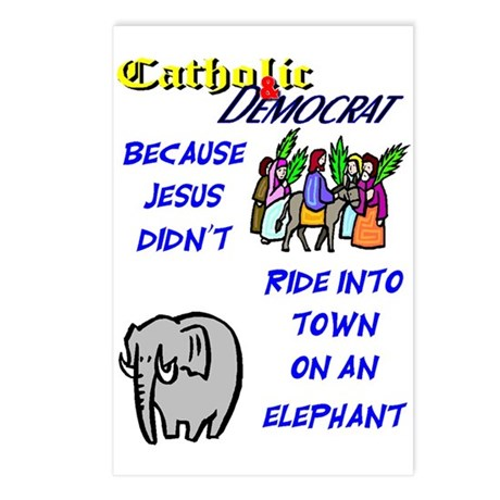 Jesus Didn't Ride an Elephant Postcards (8 cards)