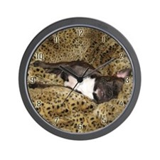 Leopard Bed Frenchie Wall Clock