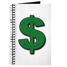 Green Dollar Sign Journal