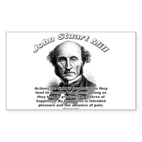 John Stuart Mill 01 Rectangle Sticker