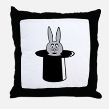 Rabbit Trick Throw Pillow
