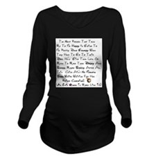 Be Happy Snow White Long Sleeve Maternity T-Shirt