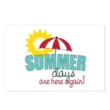 Summer Days Are Here Again! Postcards (Package of