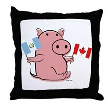 CANADA AND GUATEMALA Throw Pillow