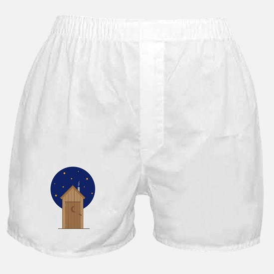 Nighttime Outhouse Boxer Shorts