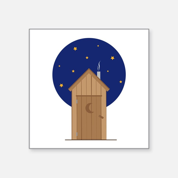 Nighttime Outhouse Sticker