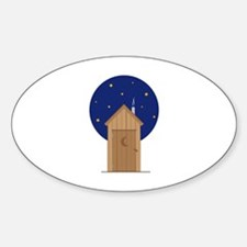 Nighttime Outhouse Decal