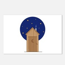 Nighttime Outhouse Postcards (Package of 8)