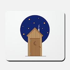 Nighttime Outhouse Mousepad