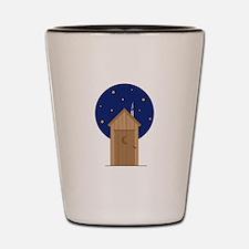 Nighttime Outhouse Shot Glass
