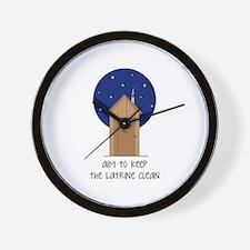 Aim to Keep Clean Wall Clock