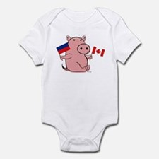 CANADA AND HAITI Infant Bodysuit