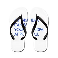 my-grandpa-pickleball-FUT blue Flip Flops