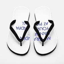 my-grandpa-pickleball-FUT blue Flip Flops