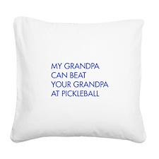 my-grandpa-pickleball-FUT blue Square Canvas Pillo
