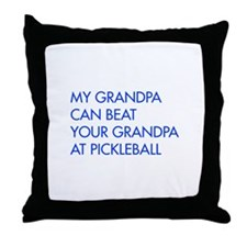 my-grandpa-pickleball-FUT blue Throw Pillow