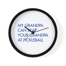 my-grandpa-pickleball-FUT blue Wall Clock