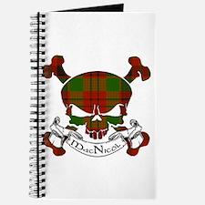 MacNicol Tartan Skull Journal