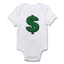Green Dollar Sign Infant Bodysuit