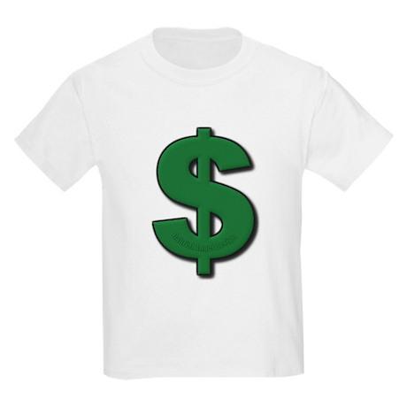 Green Dollar Sign Kids Light T-Shirt