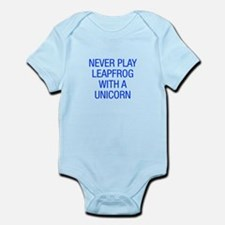 Never play leapfrog with unicorn Body Suit