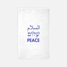 Peace 3'x5' Area Rug