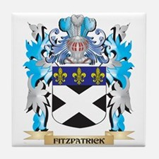 Cute Fitzpatrick family crest Tile Coaster