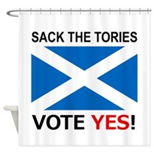 Sack The Tories Shower Curtain